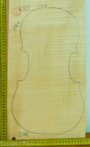 Viola No.625 Back and Sides made with Curly maple in 2018 AA grade