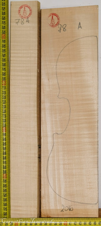 Violin No.78 Back and Sides made with Curly Maple in 2016 A grade