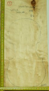 Viola No.84 One piece Back and Sides made with Poplar in 2017 AA grade