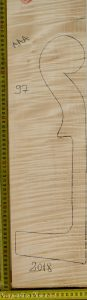 Cello No.97 Neck made with Curly Maple in 2018 AAA grade
