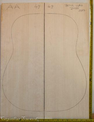 Guitar archtop No.49 Top made with Spruce in 2017 AA grade