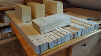 Double bass blocks, bass bar and linings