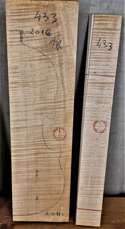 flamed maple violin back and sides
