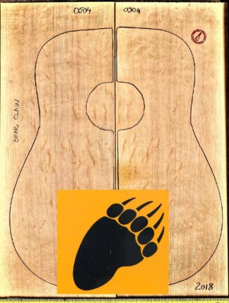 Acoustic Guitar Bear Claw Spruce Top
