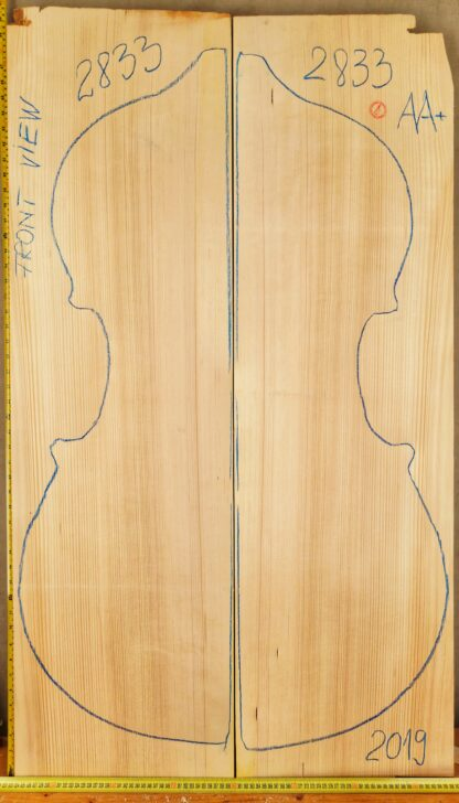 Double bass No.2833 Top